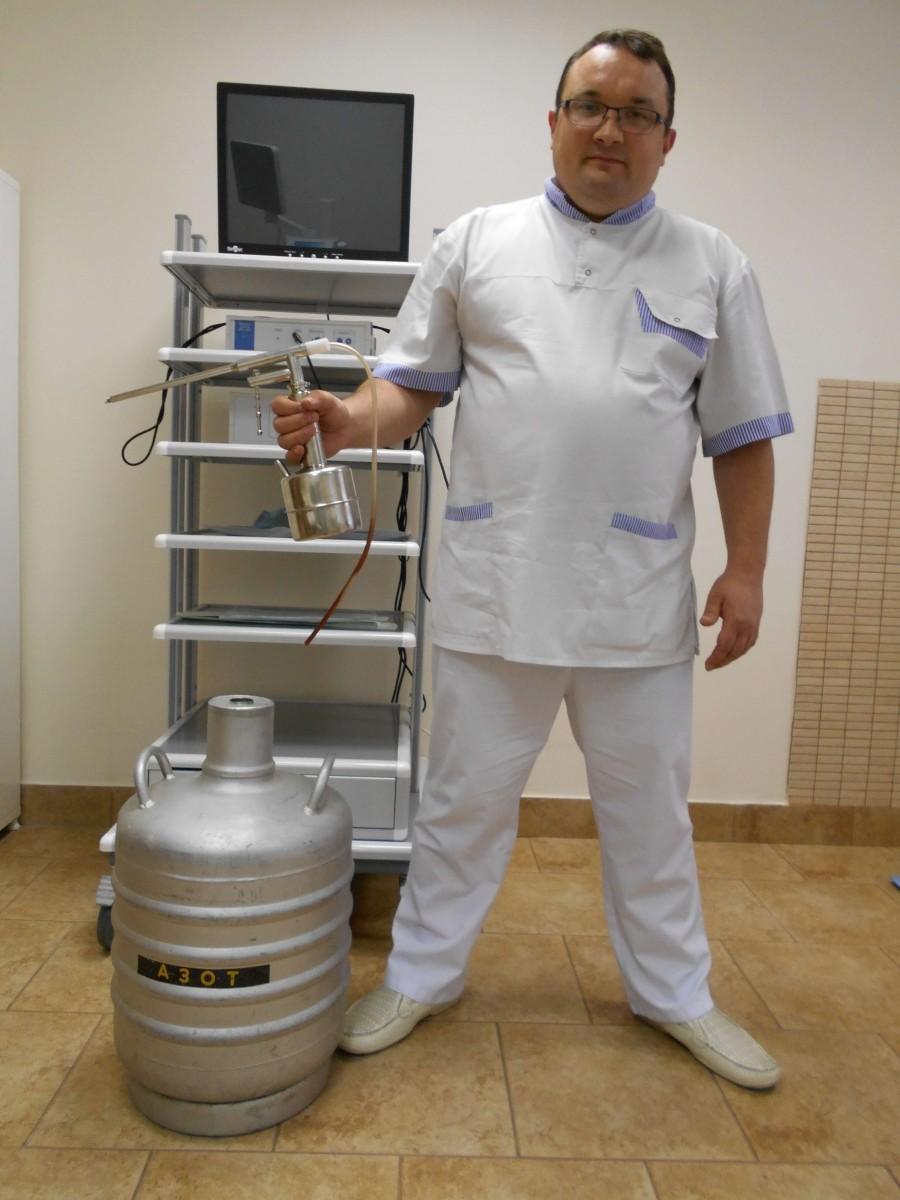 какой врач проводит удаление контагиозного моллюска жидким азотом