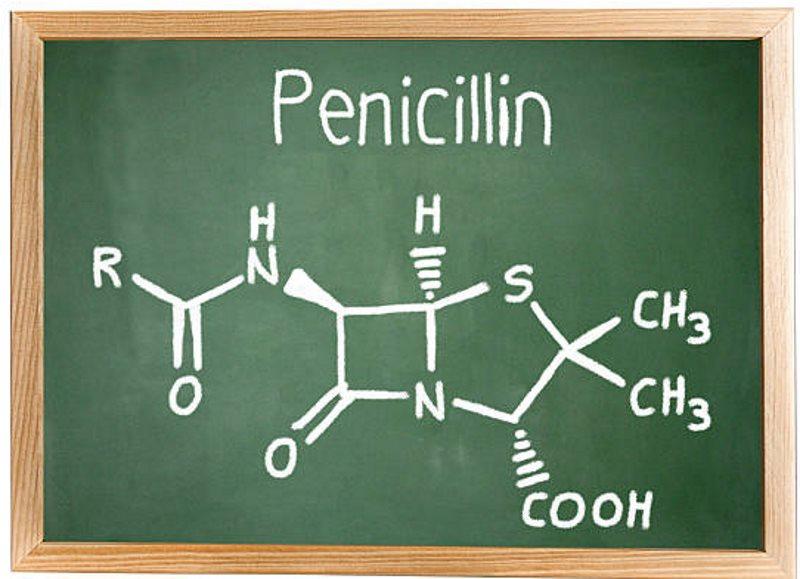 Схематическое изображение молекулы пенициллина для лечения скрытого сифилиса